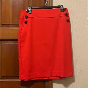 Women's red skirt from LOFT outlet.